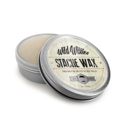 Wild Willie's Moustache Wax - The Only Hard Wax with 7 Natural Organic Ingredients for All Day Hold While Treating Your Moustache at the Same Time. Every Batch Made By Hand in the USA. 60ml