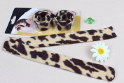 2 pcs Brown Leopard French Hairagami Hair Braider Twist Bun Poly Tail Holder styling Snap AOSTEK