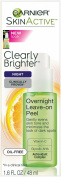Garnier Skin Active Clearly Brighter Overnight Leave-On Peel, 1.6 Fluid Ounce