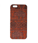 JuBeCo® Patterni Design For iPhone 6/6s(12cm ) and iPhone 6/6S Plus(14cm ),Handmade Natural Solid Wood Case, Bamboo Case.iPhone Protective Shell (iPhone 6/6s Plus