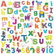 Alphabet Lazoo Letters 72 Wall Decals School Numbers ABC Room Decor Stickers