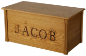 Wood Toy Box, Large Oak Toy Chest, Personalised Thematic Font, Custom Options