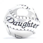 BELLA FASCINI® Daughter Family Bead Charm 925 Sterling Silver Fits Pandora, Chamilia & Compatible Brands