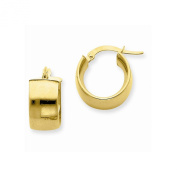 14k Yellow Gold 7.25mm Polished Round Hoop Earrings