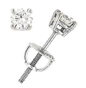0.50 Carats Total Weight Round Diamond Stud Earrings