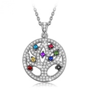 "Ninaqueen 925 Sterling Silver Women Pendant ""Tree of Life""With Cubic-zirconia Fine Necklace Jewellery"