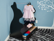 Ace Baby Furniture Rabbit Mobile Dress-Up Clothes and Shoe Organiser, Black