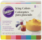 Wilton Set of 8 Icing Colours For Cake Decoration