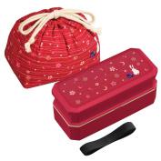 Japanese Traditional Rabbit Moon Bento Box Set, PW-9C Renewal Version, Dishwasher-safe