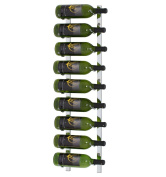 9 Bottle Vintage View Wall-Mounted Wine Rack (WS30.3m - 0.9m), Chrome Plated