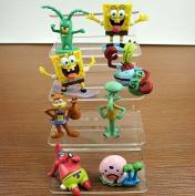 FG SpongeBob SquarePants 8 Piece Play Set with 8 SpongeBob Figures Featuring Squidward, Sandy Cheeks, Patrick Star, Mr. Krabs, Plan Multicoloured, 1pac