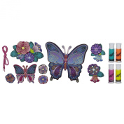 Colourful Hanging Wall Art with 8-Piece Butterfly
