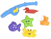 Bathtub Magnetic Fishing Rod Game CHILDISH Sea Animals