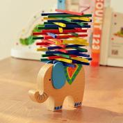 Generic 1 X Kids Balance Beam Game Toys Elephant Camel