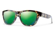 Smith Optics Clark Sunglasses, Flecked Green Tortoise Frame, Green Sol-X Lens
