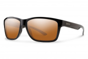 Smith Optics Drake Sunglasses, Black Frame, Polarised Blue Mirror Lens