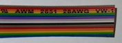 Pc Accessories - 3m IDC 16P 1.27mm Rainbow Flat Ribbon Cable 16 Conductors for 2.54mm Connectors