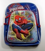 Marvel Ultimate Spider-Man 41cm Backpack - 3D Moulded Web Swinging Spiderman