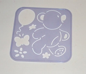 Tupperware Stencil Art Replacement Tiwi Bear Balloon Flowers #4657