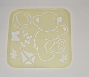 Tupperware Stencil Art Replacement Tiwi Bear Kite Butterfly Ball #4659A