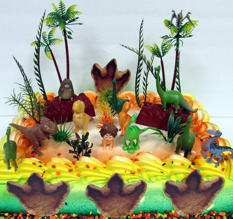 disney the good dinosaur birthday cake topper set featuring spot