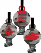 Creative Converting 8 Count Operation Camo Blowouts with Medallion, Grey
