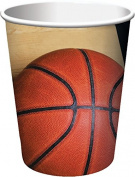 Creative Converting 8 Count Sports Fanatic Basketball Hot/Cold Cups, 270ml, Multicolor
