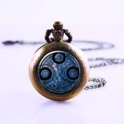 Time Lord Seal Pendant Pocket Watch , Dr Who Necklace Pocket Watch Charm, Dr Who Pendant Pocket Watch Time Lord Jewellery, Time Travel Pocket Watch