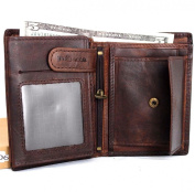 Men Money Clip Genuine Leather Wallet Coin Pocket Retro Purse Vintage Craftsmanship New.