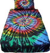 Stained Glass Spiral Tie Dye Sheet Set - Twin XLong