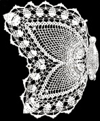 Vintage Crochet PATTERN to make - Pineapple Butterfly Doily Set. NOT a finished item, this is a pattern and/or instructions to make the item only.