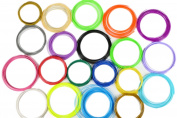 Wisehands 3D Printing Drawing Plastic Filaments Refills, High Quality ABS, 10 Metres Each in 20 Different Colours