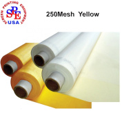 250 Mesh/100T Yellow Colour Screen Printing Polyester Monofilament Mesh