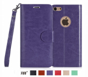 iPhone 6S Case, iPhone 6 Case, Fyy [Top-Notch Series] Premium PU Leather Wallet Case Protective Cover for iPhone 6S / iPhone 6 (12cm ) Purple