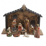 Kurt Adler Porcelain 10-Piece Nativity Set, 8.9cm to 13cm