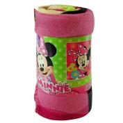 Fleece Throw - Disney - Minnie Mouse - Flower Pop 110cm x 150cm Blanket