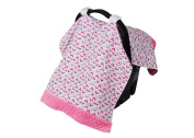 Itzy Ritzy Cosy Happens Infant Car Seat Canopy Muslin Collection, Chev-Rock Pink