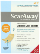 ScarAway Professional Grade Silicone Scar Treatment Sheets 3.8cm x 7.6cm 8-Count