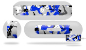 Sexy Girl Silhouette Camo Blue Decal Style Skin - fits Beats Pill Plus