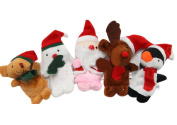 Children Kids Educational Story Christmas Santa Claus Deers Snowman Finger Puppet Doll Hand Toys Series Set of 5