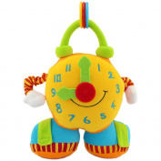 Happy Cherry Infant Baby Primary Plush Puzzle Dolls Toys Teaching Clock Developmental Time Learning Toys