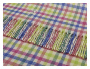 Lambswool Baby Blanket Throw - GINGHAM CANDY cheque