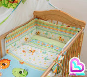 3 Pcs Baby Bedding Set With Pattern, Regular Safety Bumper