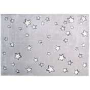 nattiot-tapis Child Sweet Dream Grey with White Stars (120 x 170 cm) - Grey