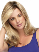 kalyss women's Long Curly Golden Blonde Hair Wigs As Real Hair wig