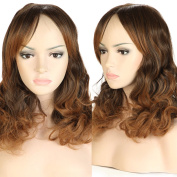 S-noilite UK Long Curly Full Wig Cosplay Party Daily Dress Synthetic Adjustable Brown To Coffee