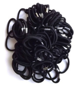 Shropshire Supplies Pack of 100 Thick Hair Elastics Ponytail Bands Hair Bobbles (Black) by Shropshire Supplies