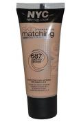 NYC 687 Light To Medium Skin Matching Foundation 30ML by NYC