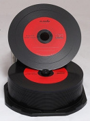 25 CD Rohling 700MB Vinyl CD-R NMC Red Carbon Dye Complete Back
