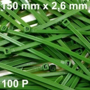 100 Cable Tie 150 x 2.6 mm type RILSAN/Colson Green